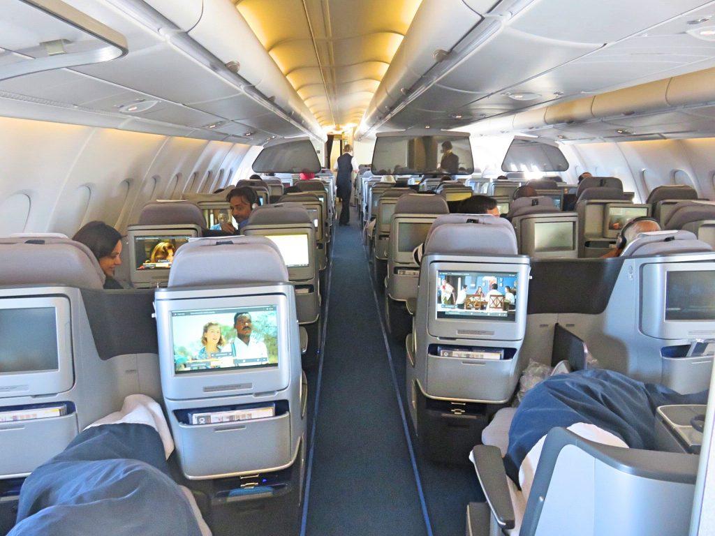 Spacious cabin and big seats