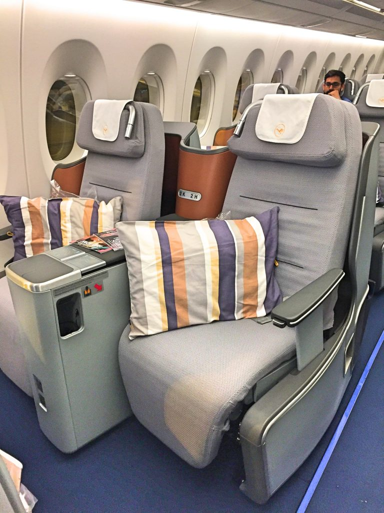 A picture of my seat showing the leg room