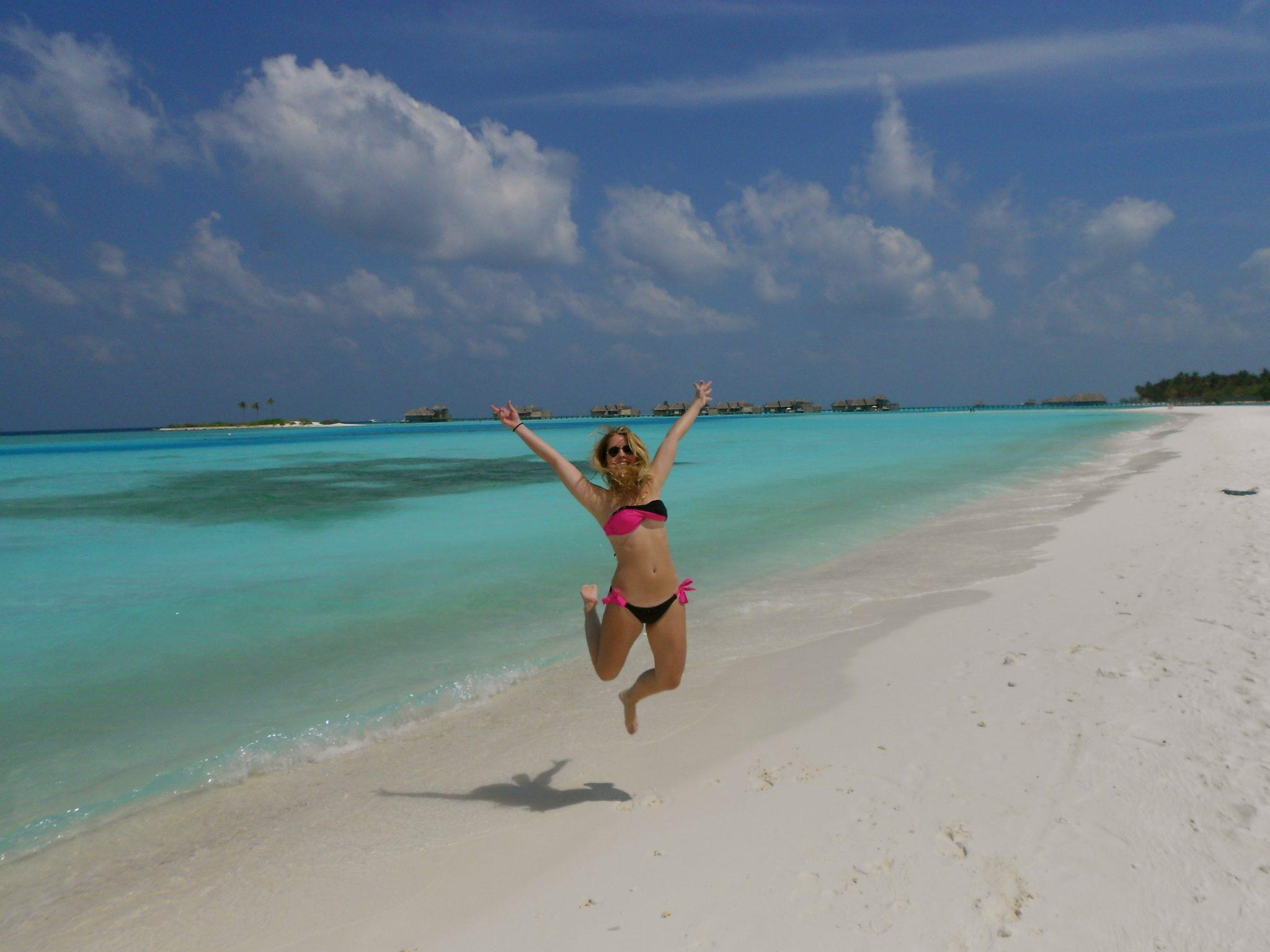 Strand på maldiverna
