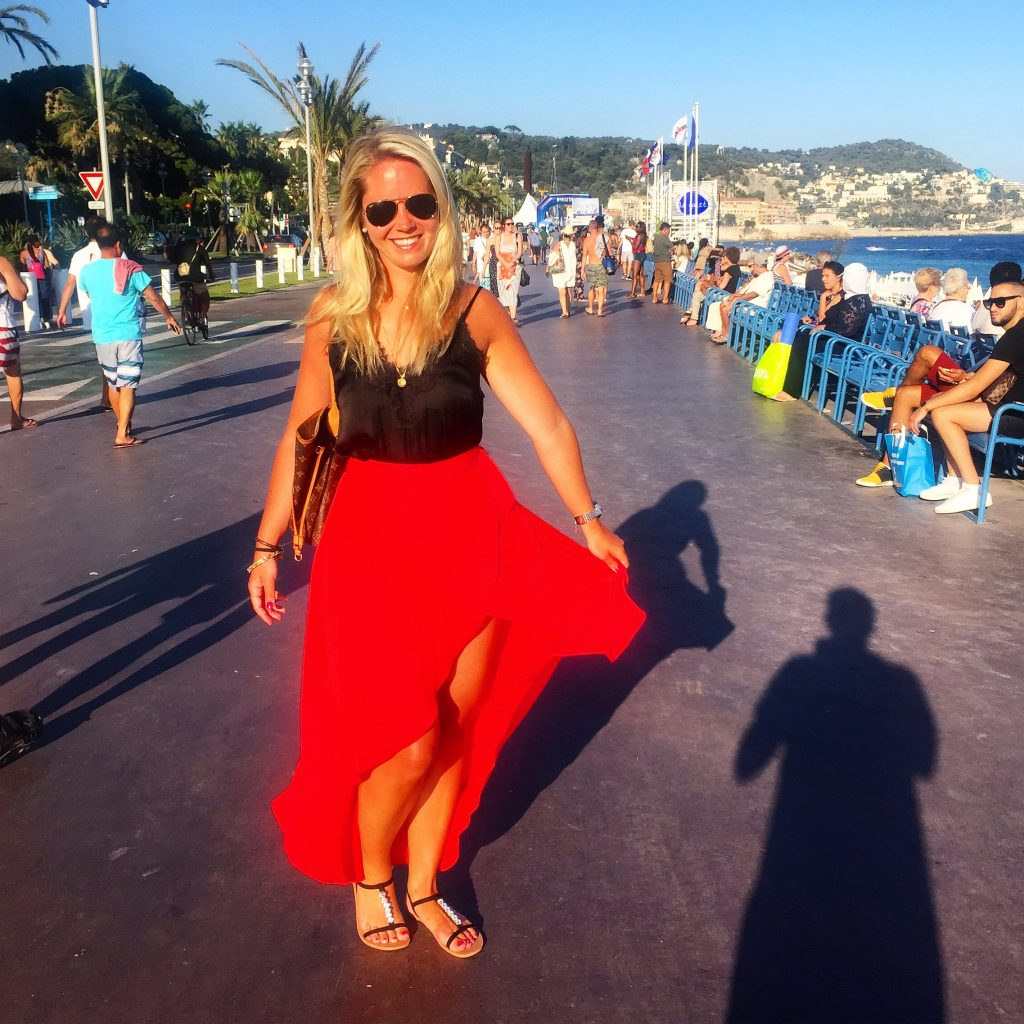 A picture of me at Strandpromenaden in Nice France