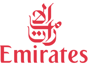 Logo of the airline Emirates