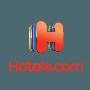 Logo of the travel websites company hotels dot com