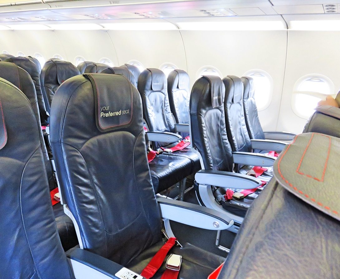 Another picture of the seats on the plane