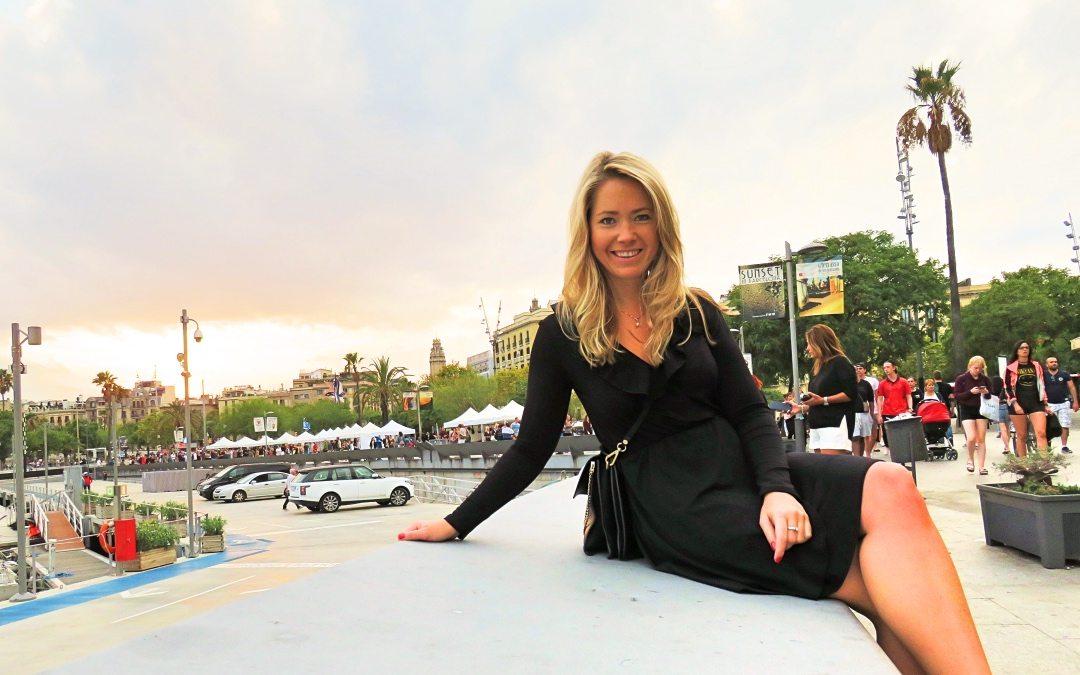 Solnedgång Barcelona