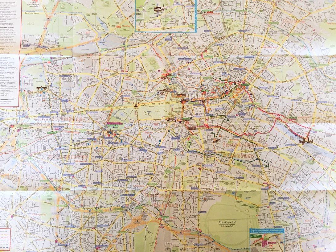 Karta över Berlin