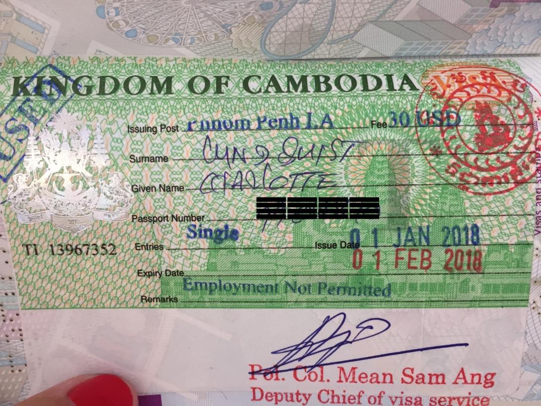 Visum till Kambodja