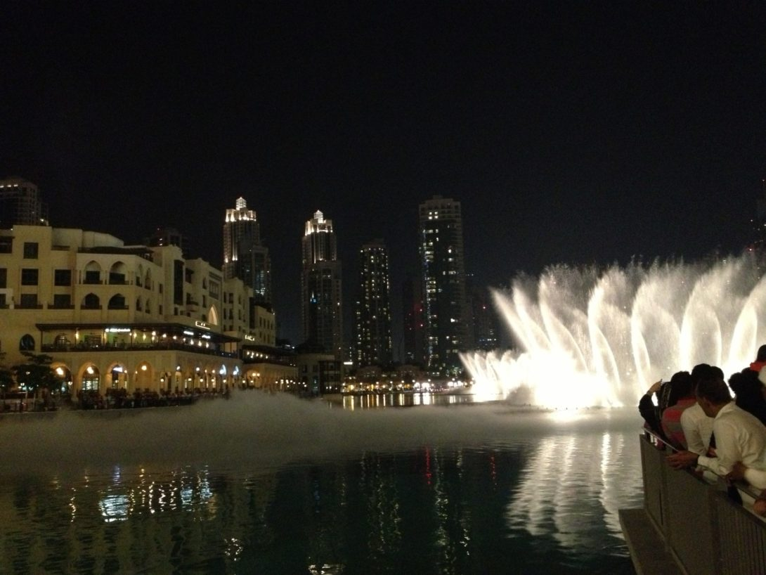 Dubai fontän